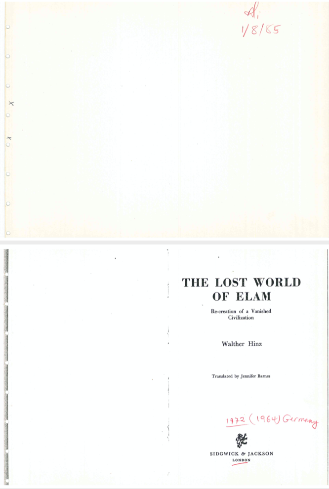 The lost world of Elam